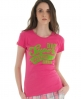 Superdry Warrior Flock T-shirt Pink
