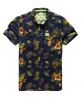 Superdry Slimline Washbasket Hawaiian Shirt Navy