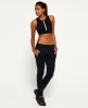 Superdry Gym Scuba Crop Top Black