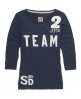 Superdry Team Old English T-shirt Navy