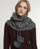 Superdry Cable Snood   Grey