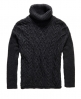 Superdry Cable Cape Pullover Grau