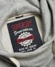 Superdry Marl Crop Hoodie  Grey