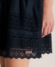 Superdry Broderie Skirt Navy
