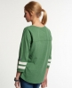 Superdry Tri League Baseball Top Green
