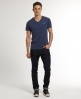 Superdry Embroidery Vee T-shirt Blue