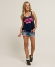 Superdry Low Rise Hotpants Blue