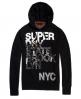 Superdry Sudadera con capucha NYC  Negro