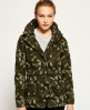 Superdry Rookie Tall Collar Parka Jacket  Green