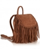 Superdry Premium Suede Neo Nomad Fringed Backpack Brown