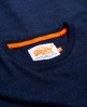 Superdry Vintage Orange Label T-shirt met opgestikt logo Navy
