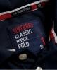 Superdry Polo de piqué clásico Emboss  Marino