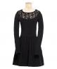 Superdry Lace Skater Dress Black