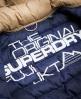 Superdry Cazadora con capucha y cremallera doble Fuji Marrón