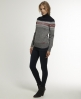 Superdry Fairisle Turtle Neck Grey