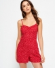 Superdry Flippy Shore Playsuit  Red