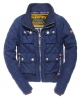 Superdry Quilted Bomber Jacket Blue