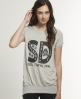 Superdry Crew Tee Dress Light Grey