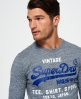 Superdry Camiseta de manga larga Shirt Shop Gris