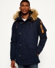Superdry Microfibre SD-3 Parka Jacket Navy