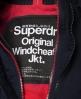 Superdry Pop Arctic SD-Windcheater mit Kapuze und Reißverschluss Marineblau
