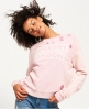 Superdry Distress Boxy Sweatshirt  Pink