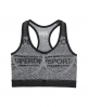 Superdry Gym Seamless Bra  Grey