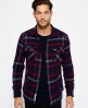 Superdry Milled Flannel Hemd Marineblau