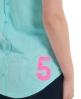 Superdry Scoop Button Vest Blue