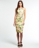 Superdry Sultry Scuba Pencil Dress Yellow