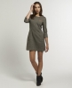 Superdry Gentry Tweed Dress Brown