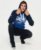 Superdry Premium Goods Raglan-Hoodie  Blau