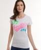 Superdry Neon Lights T-shirt Grey
