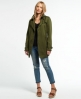 Superdry Draped Trench Coat Green