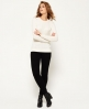 Superdry Luxe Mini Cable Strickpulli Creme