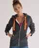 Superdry Pop Colour Zip Hoodie Dark Grey