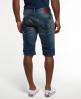 Superdry Officer Slim Denim Shorts Mid Blue