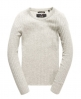 Superdry Luxe Ribbed Knit Jumper Grey