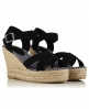 Superdry Isabella Espadrille Wedge Sandals Black