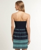 Superdry Broderie Lights Dress Navy
