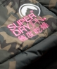 Superdry Cazadora con capucha Retro Chevron Puffer Verde