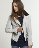 Superdry Belted Rider Leather Jacket White