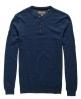 Superdry Orange Label Knit Grandad Jumper Blue