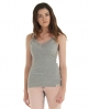 Superdry Lace Rib Vest Top Grey
