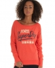 Superdry Ticket Burnout T-shirt Red