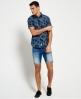 Superdry Ultimate Indigo Aloha Shirt Blue