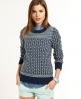 Superdry Alpine Fairisle Crew Blue