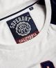 Superdry Varsity Shirt mit Applikation Weiß