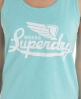 Superdry Scoop Button Vest Blue