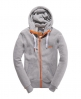 Superdry High Neck Zip Hoodie Grey